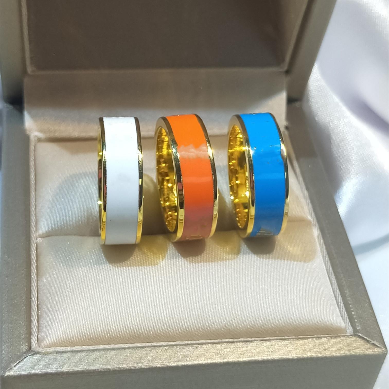 Горячая распродажа простой кольцо мода печать буква кольцо для человека или женщины кольцо высококачественные титановые стальные украшения