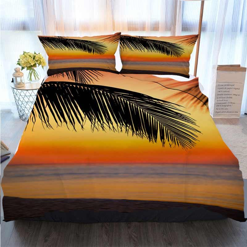 3D дизайнер постельного белья Гавайского Sunset Home Luxury Soft Одеяло Утешитель крышка