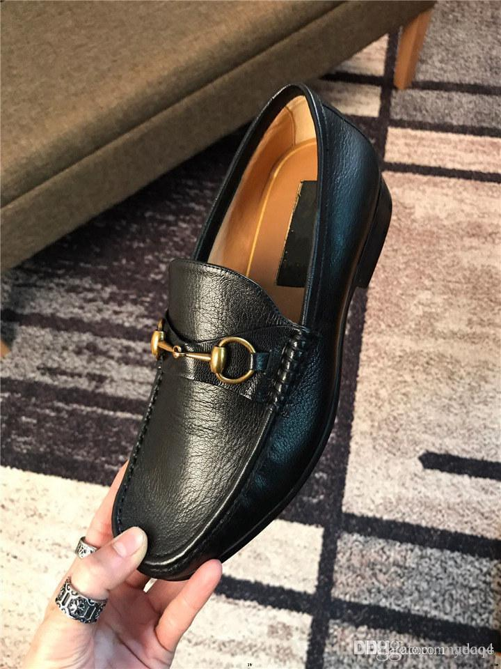 Q4 수제 남성 웨딩 옥스포드 신발 블랙 카키 가죽 브로그 럭셔리 남성 드레스 신발 미끄러짐 남성용 공식 신발 22