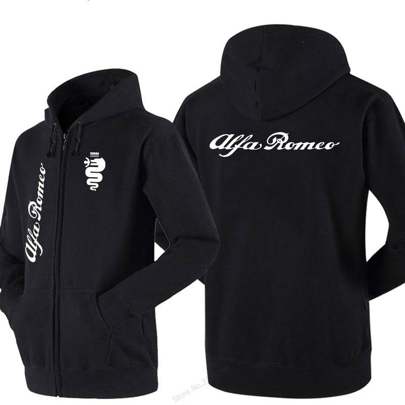 Automne Hiver Nouveau design Survêtement pour homme femmes zipper Toison d'alfa romeo sweat-shirt manteaux fasion
