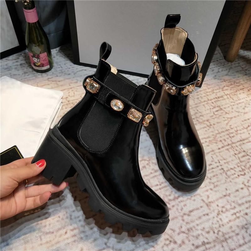 Новейшие женские кожаные лауреата платформы пустынные ботинки Martin Boots Star Trail на шнуровке лодыжки ботинок зима ботинок высокие каблуки женские ботинки с коробкой