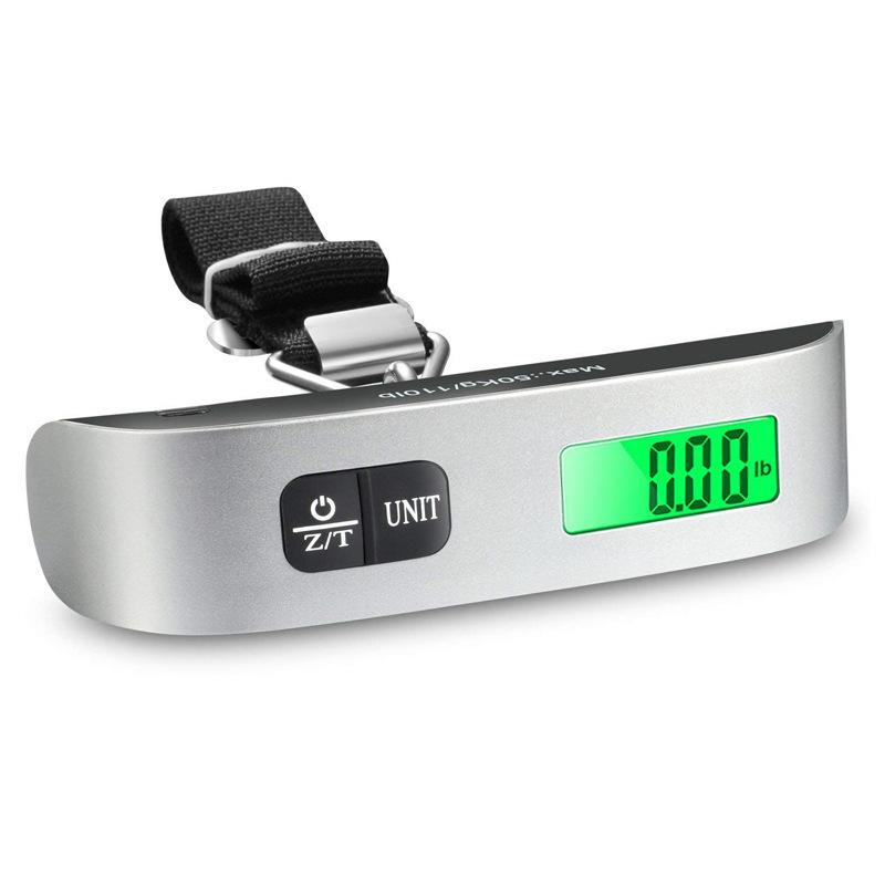 Dijital Elektronik Bagaj Terazi Taşınabilir 50 KG / 110LB Bavul Ölçekli Handled Seyahat Çantası Ağırlık LCD Ekran Asılı Ölçek VT1745