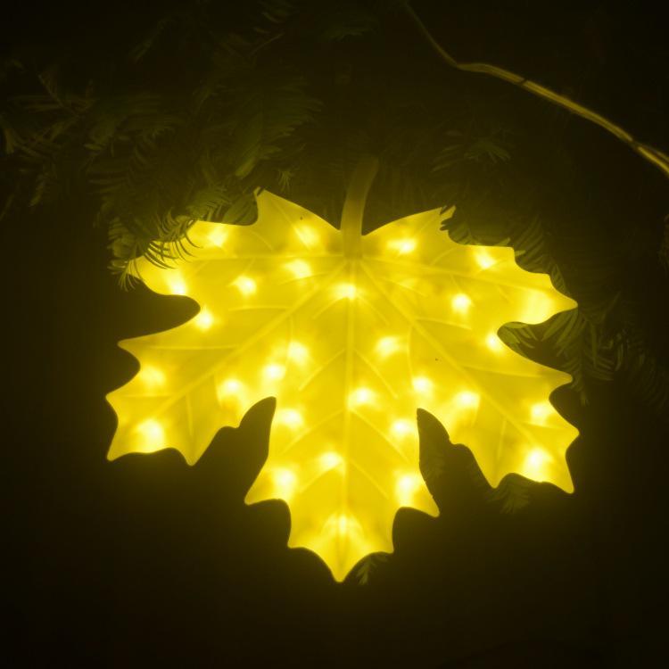 Led Maple Leaf Lamp Led Brightening Modeling Lamp Smiling Face Pendant Spring Lighting Pendant Ginkgo Leaf Colored Lamp String