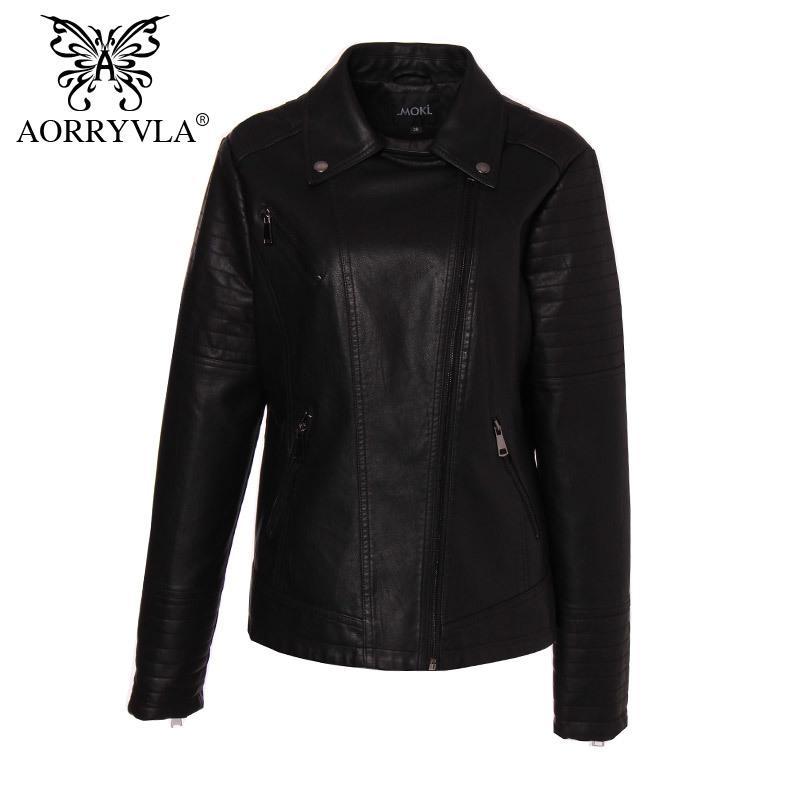 Марка Кожезаменитель куртка женщин плюс размер Весна Мотоцикл черный Кожа PU Тонкий Верхняя одежда Biker Jacket Горячая кожа пальто 200930