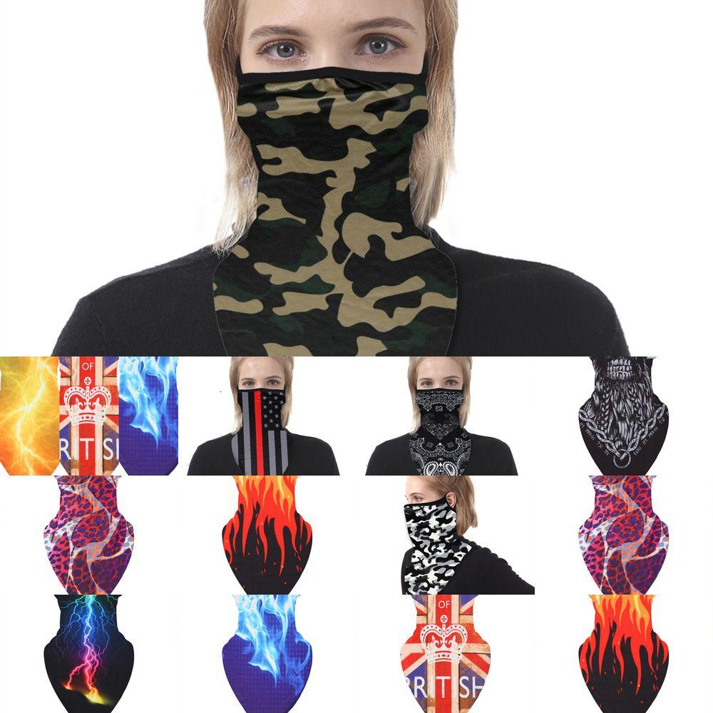 Máscara de la bandera de seda de hielo Digital Bufanda de ciclo de impresión multifuncional magia Headwear turbante Rra Riding cuello máscaras del partido Tr