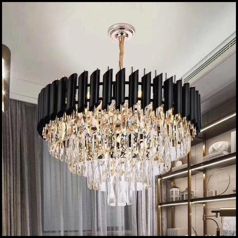 Moderno Led Chandelier Iluminação para sala de estar sala de jantar de luxo cristal moderno chandeliers pingente pendurado luzes frete grátis