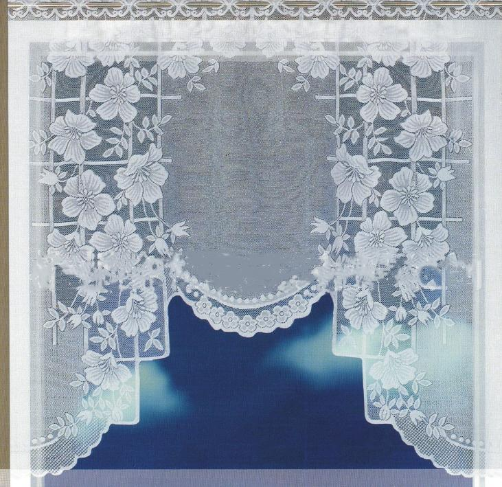Enipace europeu branco translúcido cortina de café warp tricotadas cortinas cozinha tule lace puro jacquard cortinas