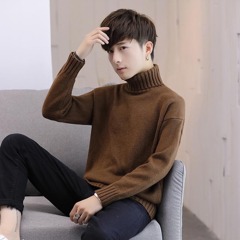 Свитер 2020 Новая мужская водолазка свитер зимний корейский свободный тенденция студент индивидуальность дикая пара трикотажные одежды