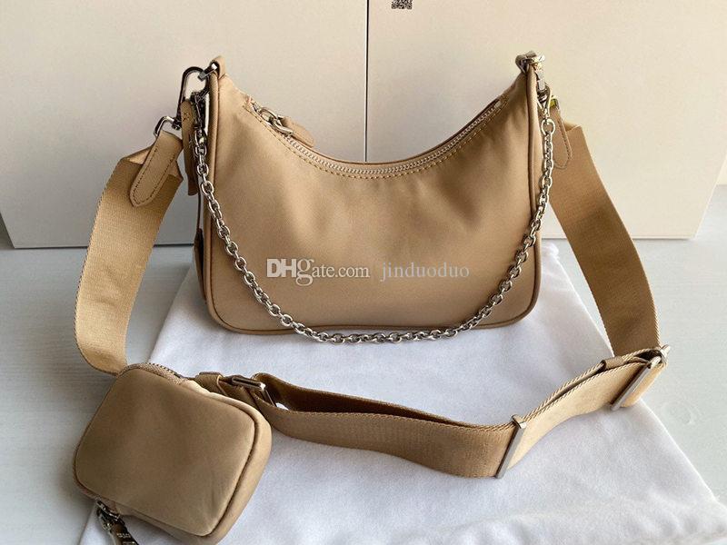 Diseñador de calidad superior de calidad para mujer Nylon Neylon New Bag Re-Edition Hobo Mens Crossbody Bolsas de asas 2021 2005 ha ONURA