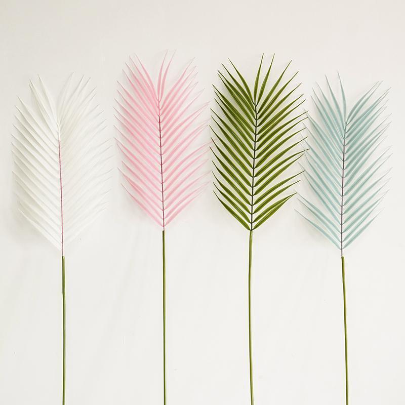 Dekoratif Çiçekler Çelenk High-end Simülasyon Dağınık Kuyruk Yaprak Phoenix Bambu Tek Renk Dekorasyon Ile Çim Düğün Sahne Yolu De