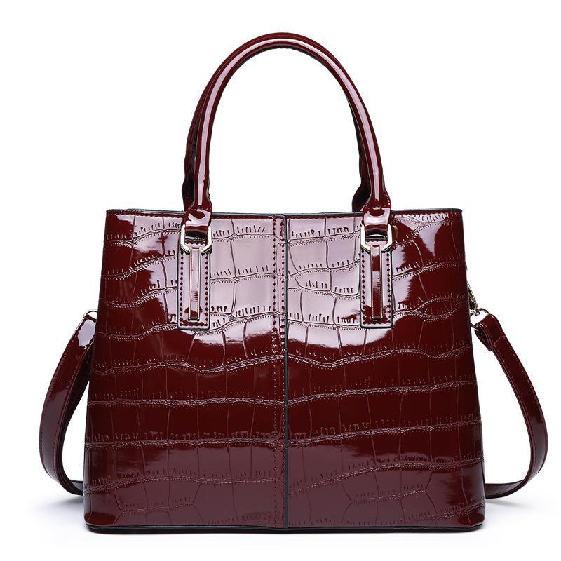 yeni kadın torba bir omuz ve diyagonal timsah taş tanesi ile, şık ve şık