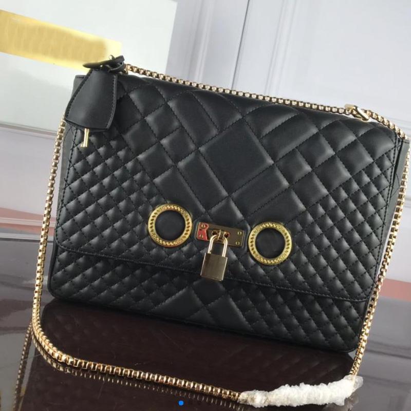 Top Quality Fashion Handbag Purse Luxury Genuine leather Messenger Bag Designer Chain Shoulder Bag with Badge Lock Flap Hasp Crossbody Bag