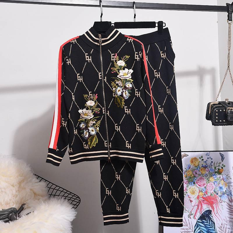 Роскошные дизайнеры Женщины Cousssuit 2 шт. Спортивные толстые кофты с длинным рукавом, бегущие бегущие набор осень и зима спортивная одежда женские трексуиты