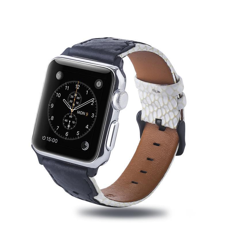 Loop de couro para Apple Watchband Impresso 38 40 42 44mm Leopard Imprimir Pulseira de Substituição para iWatch 5 4 3 2 1 Cinto de Acessórios