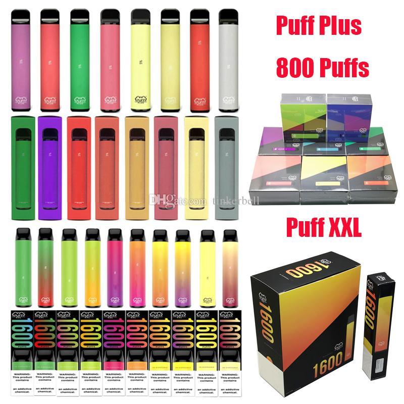 Puf Bar Artı XXL Posh Plus XL Max Pro XTIA Tek Kullanımlık Vape Kalem Pod Puf XXL Bar 800 1600 Puffs Elektronik Sigara Kiti