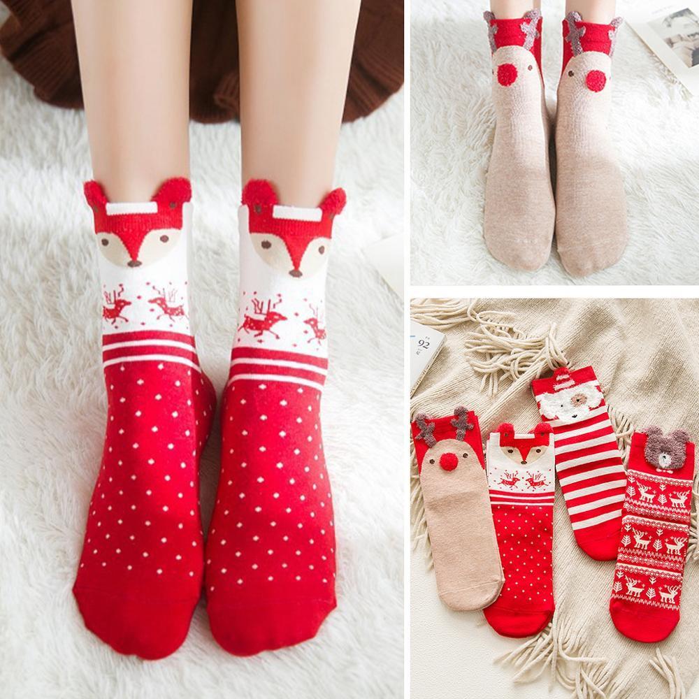 Cotton Christmas Socks Christmas Decorations for Home Xmas Gifts Christmas Decoration 2020 Noel Decor Natal New Year
