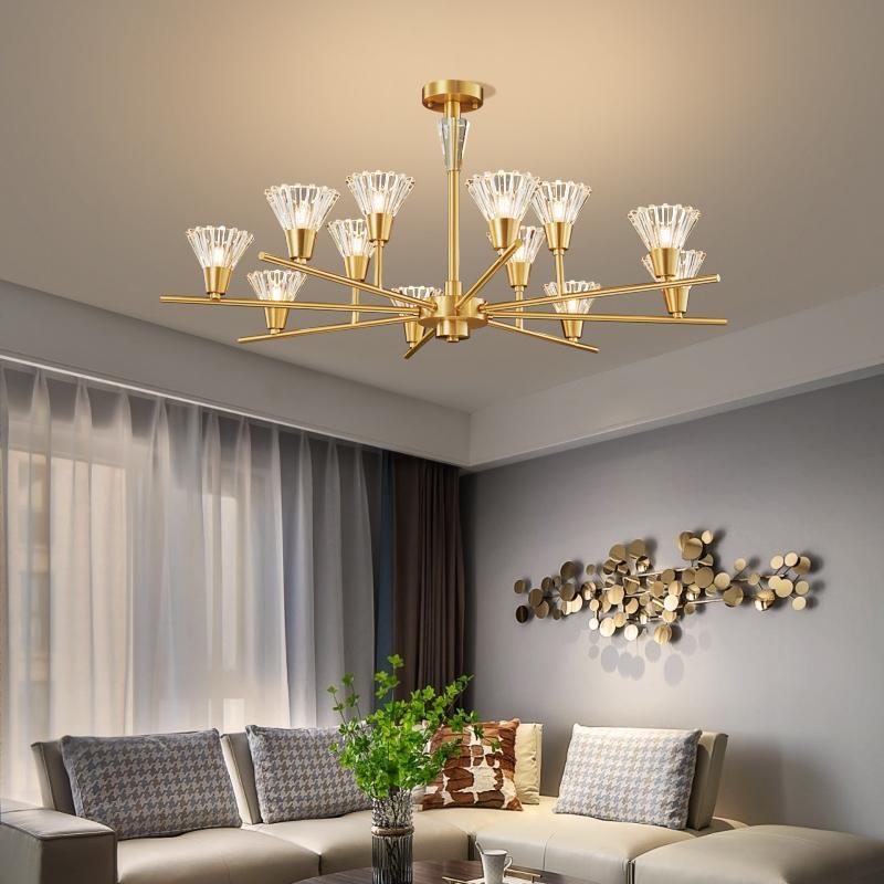 Духовой люстра гостиной потолочные люстры спальни привели лоск освещение стекло тень кулон светильник кухни медный свет