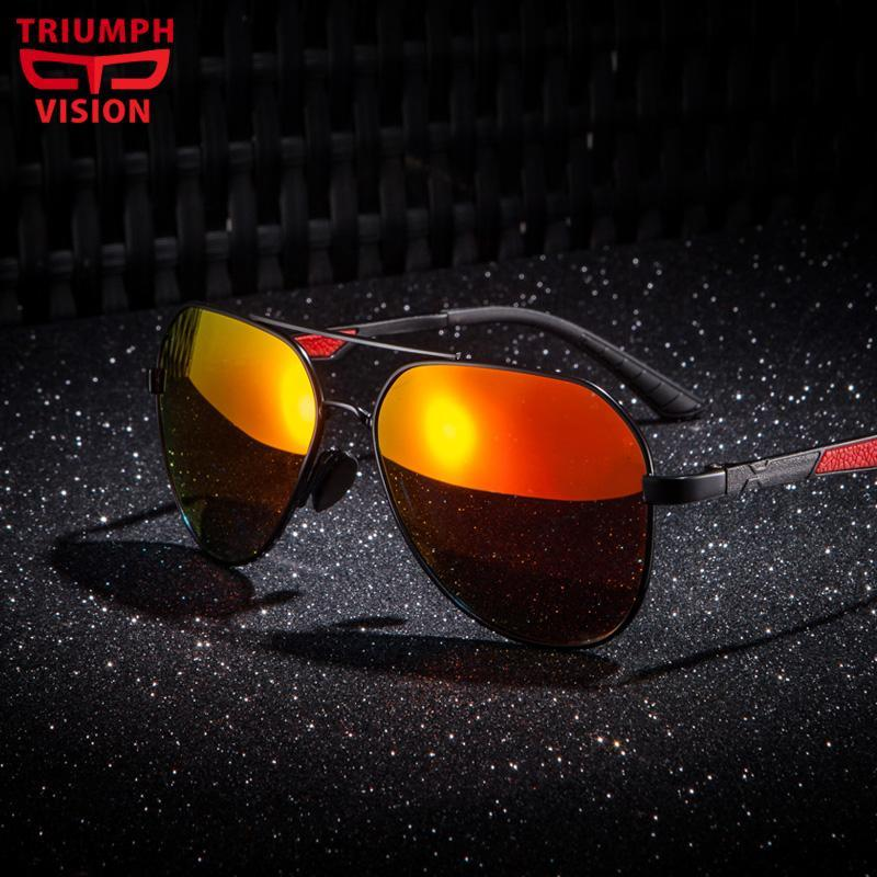 Männer Sonne männliche Qualität Shades polarisierte Gläser Vision Spiegel Hohe klassische Fahrer Sonnenbrille oculos sxqsm