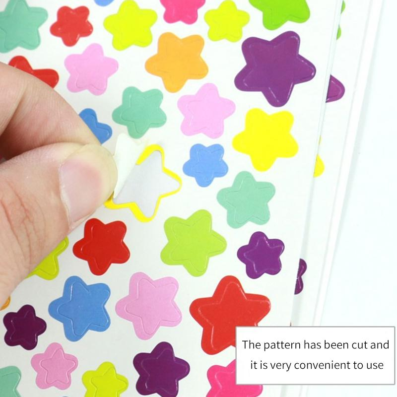Kawaii Dibujos animados Dots Love Heart Pegatinas Patrones Pegatinas de papelería linda Pegatina Collage decorativo Scrapbooking Planificador Album Estética