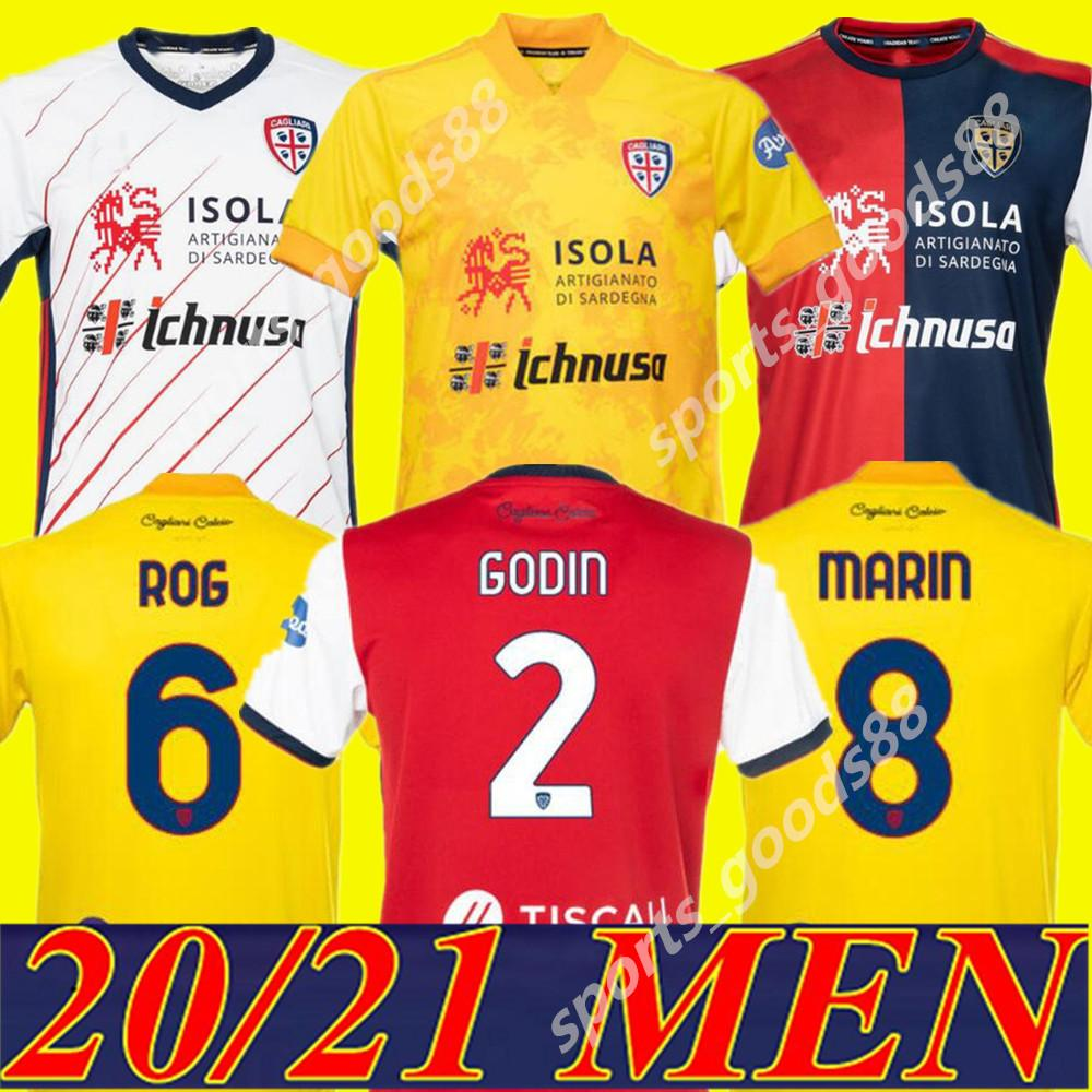 20 21 Cagliari Calcio Soccer Trackss Третий желтый Godin Simeone Joao Pedro Pavoletti 2020 2021 Nandez Rog Maglie Da футбольные рубашки Таиланд