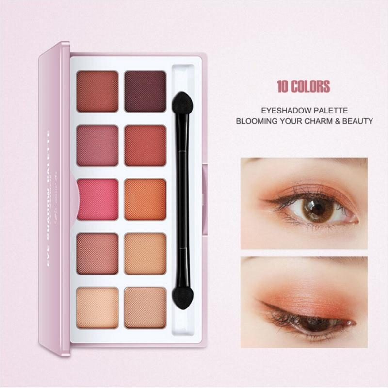 Neue 10 Farben schimmern matt Lidschatten-Palette wasserdicht Color Schönheit Make-up Kosmetik Lidschatten maquiagem
