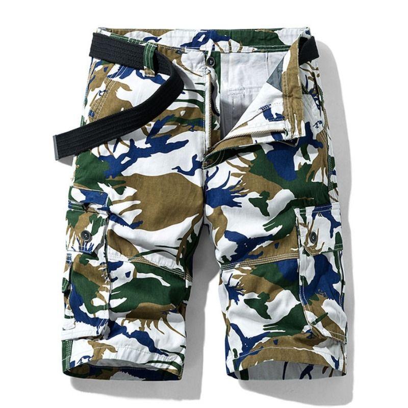 Летний камуфляж Cargo Shorts Новые мужские мужские наружные износостойкие военные тактические шорты камуфляжные грузовые мужские шорты T200422
