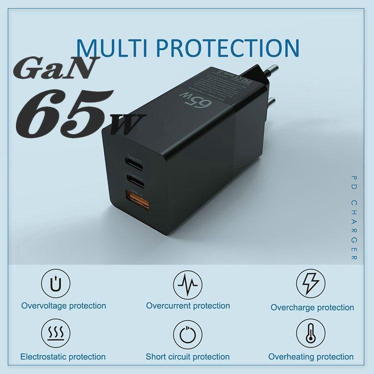 GaN 65W Quick Charge QC4.0 QC PD3.0 PD USB-C Тип C USB зарядное устройство для мобильного телефона таблетки Смарт зарядное устройство Бесплатная доставка