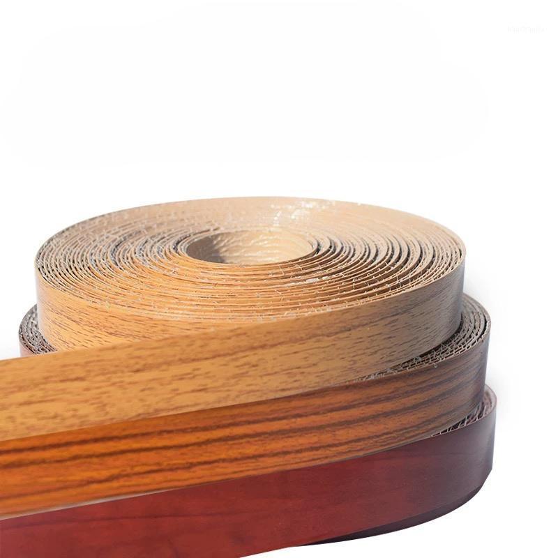10M meubles auto-adhésifs placage en bois bande de bord de bord décoratif PVC pour armoire de meubles de bureau de bureau en bois