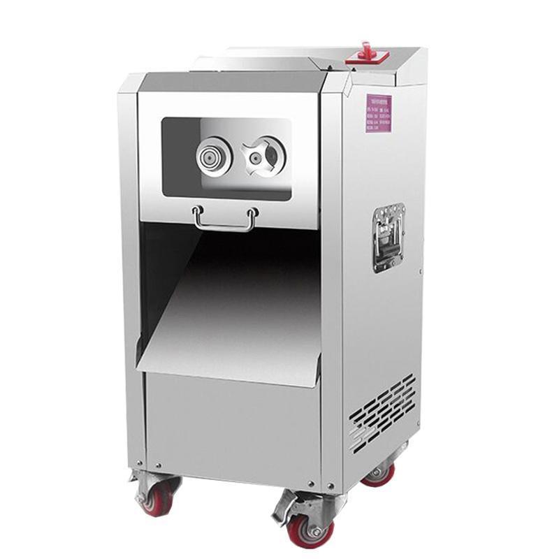 Kommerzielle Vertikale Fleisch Slicer Küche Edelstahl Geschnittene geriebene Zerriegelte Zerriegelte Zerfälle Matter Maschine Fleisch Cutter Maschine zum Verkauf