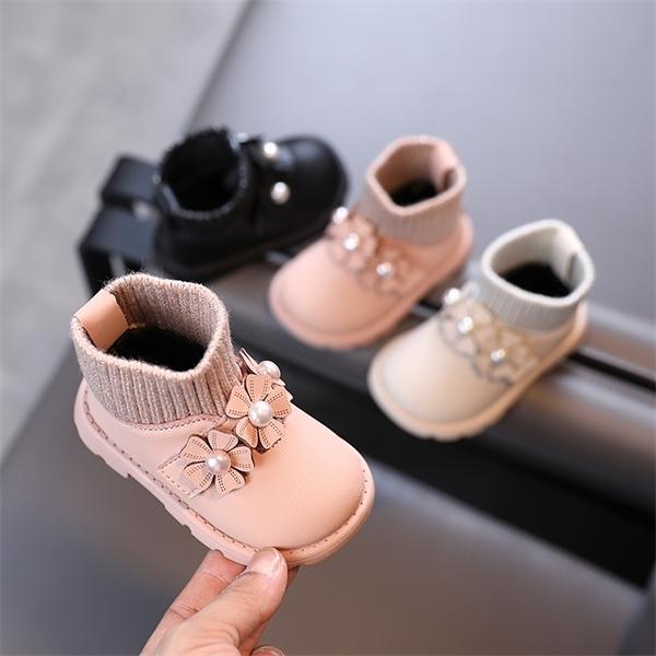 Детский теплый хлопок 2020 зима новая новая корейская версия девушки не скольжения принцесса обувь детские плюшевые сапоги 0-1-2 -3 года oldx1024