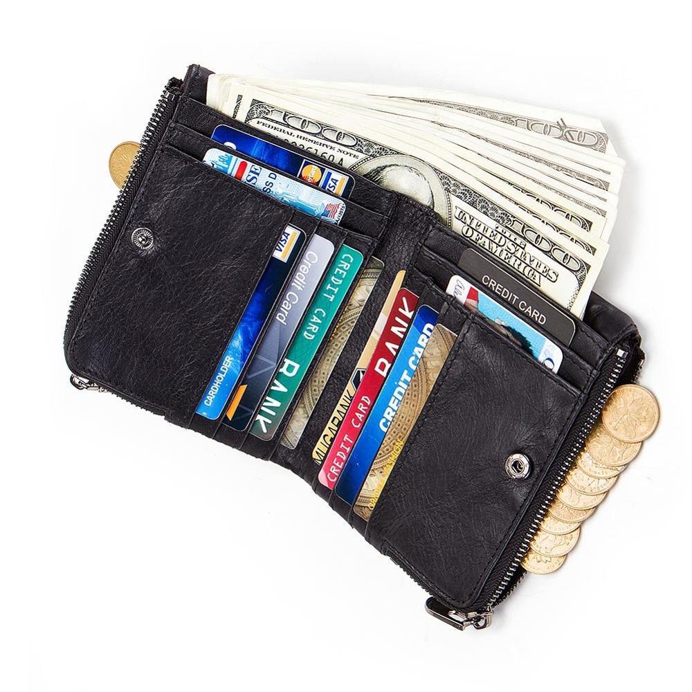 2020 Vendita calda Vintage uomo portafoglio in pelle corto portafogli maschi maschile multifunzione bodie bovina RFID Pocket Pocket Pocket Holder
