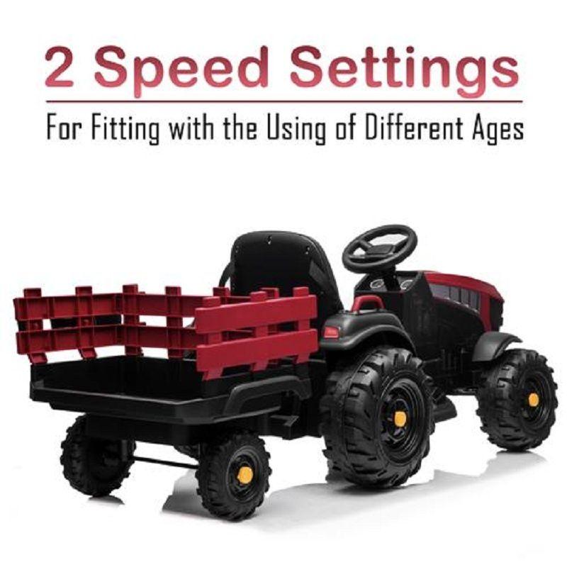 Новый электрический 12V дети ездить на тракторных автомобильных игрушках аккумуляторные колеса музыка с прицепом 4 цвета