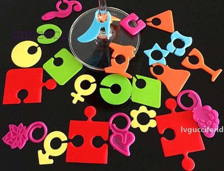 Bar 50sets 24 pcs set Silicone Party Wine Glass Bottle Drink Cup Marker Tags Cup Identify Label
