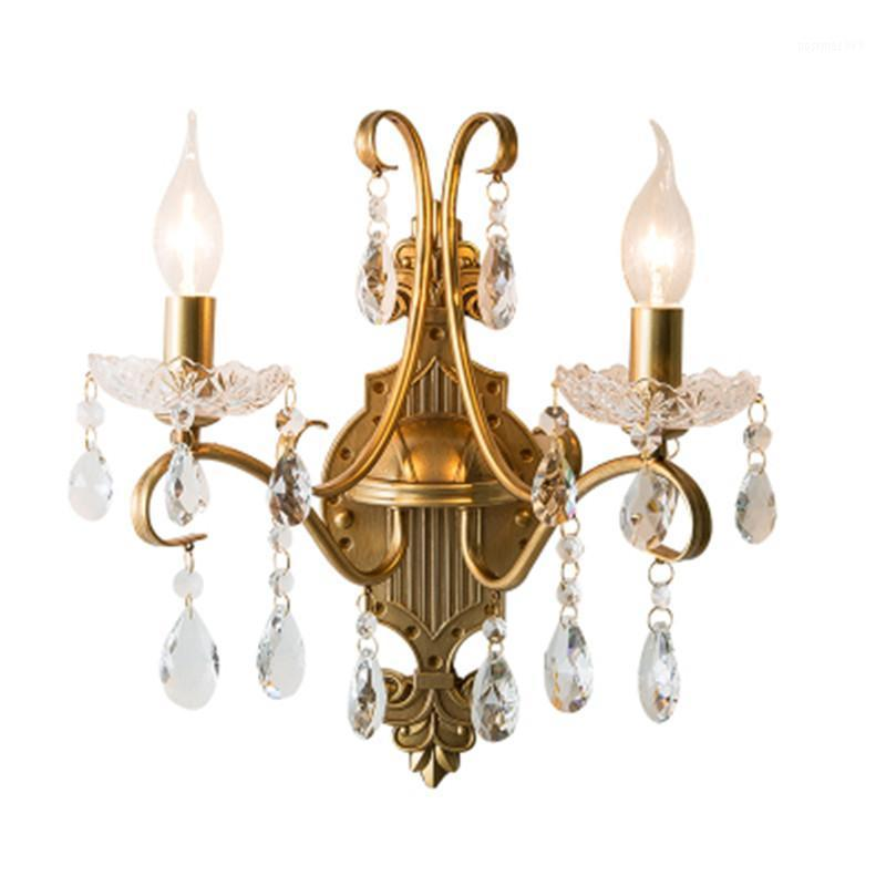 Nórdico Retro Ferro Ferro Lâmpada de Parede Scorce Sala de estar Quarto Aisle Restaurante Creative Gold Wall Light LED Candle Fixtures1