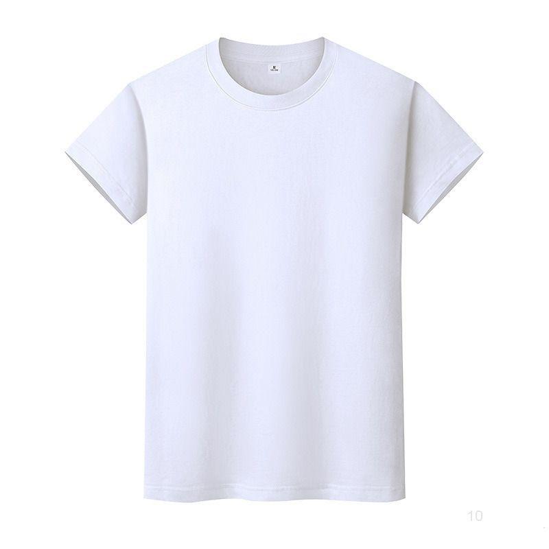 Новая круглая шея сплошная цветная футболка летняя рубашка хлопчатобумажной дозирующей рубашки с короткими рукавами и женским половиной рукава DI6GIO