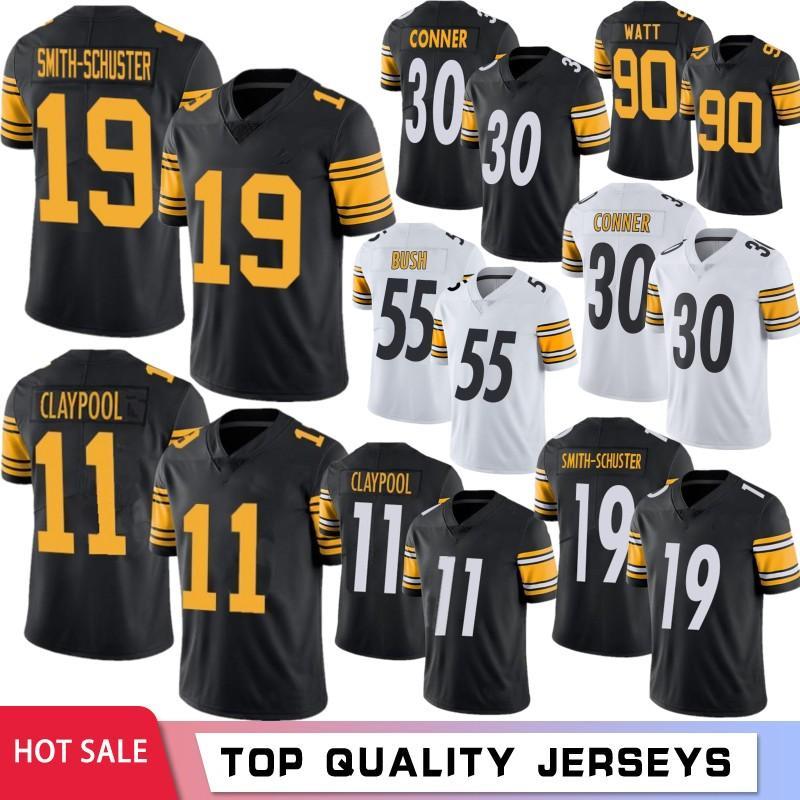 Juju Smith-Schuster Football Jerseys 11 Chase Claypool Men Jersey T.J. Watt Fitzpatrick Devin Bush Troy Roethlisberger Polamalu 2021 caliente