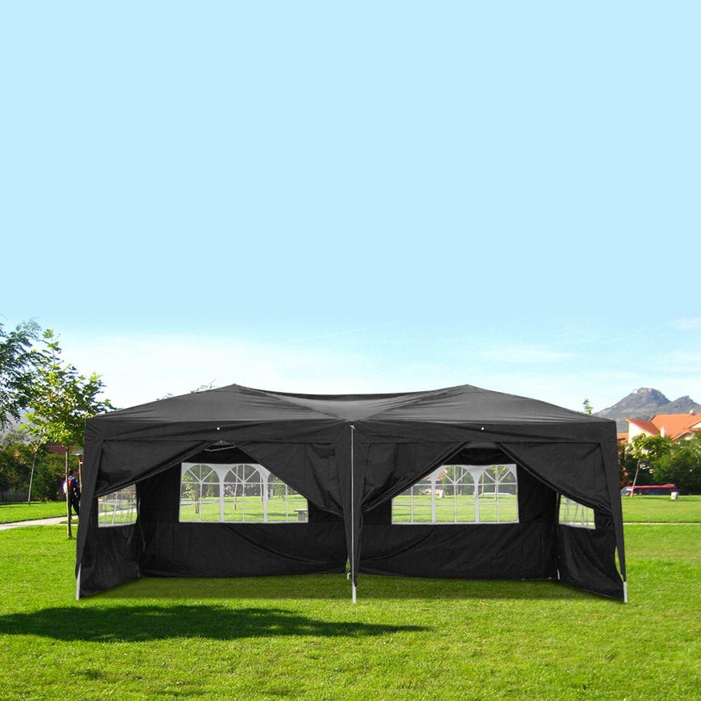 10x20ft Свадебная вечеринка Палатка 6 сторон 4 Windows 3 x 6M Практическая водонепроницаемая складная беседка для парковочной крышки кемпинга или пикника США