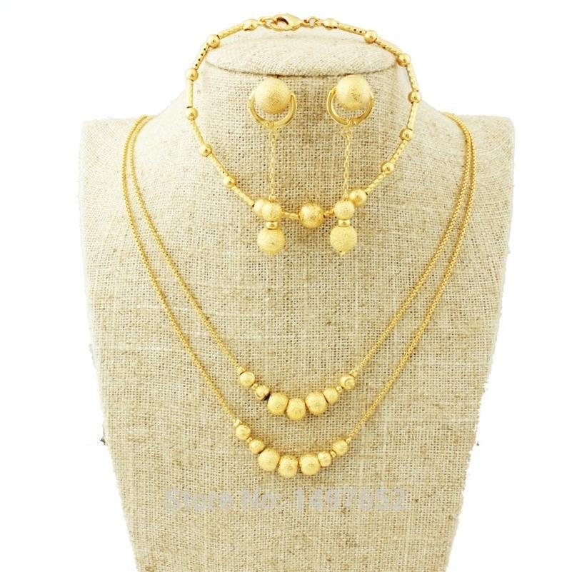 / Gold Color Эфиопские женщины набор юбилей браслет / серьга / ожерелье африканский / эритрея хабеша ювелирные изделия 201222