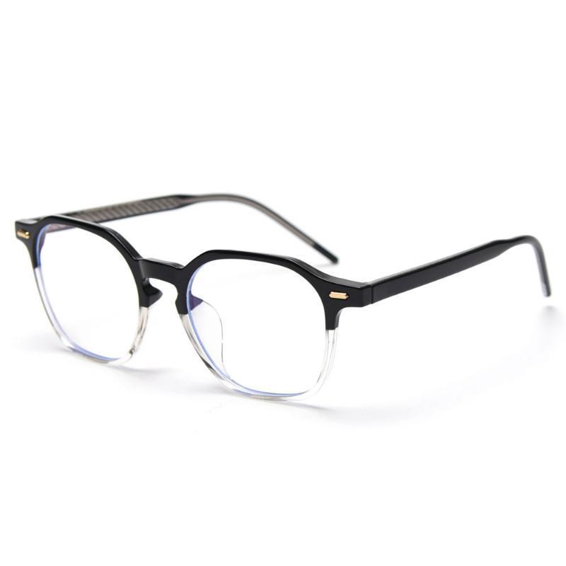 Moda Güneş Gözlüğü Çerçeveleri Veshion TR90 Optik Gözlük Çerçevesi Kadınlar için Şeffaf Kare Asetat Şeffaf Lens Kore Tarzı Hediyeler