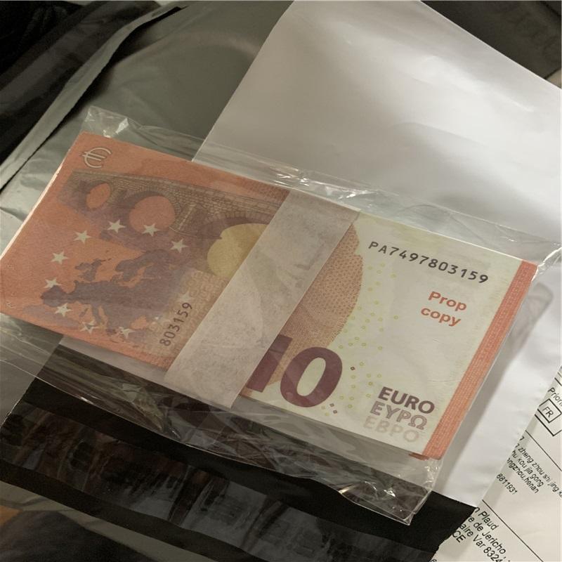 Euros Fake Film Shooting Prop Money Kids Toys éducatifs et cadeaux 100pcs / pack