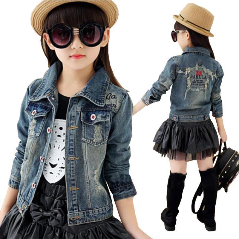 Mädchen Baumwolle Denim Jacke Kinder Frühling Herbst Tops Kinder Jeans Kind Kleidung Baby Jacke Mädchen Denim Jacken Kinder Outwear