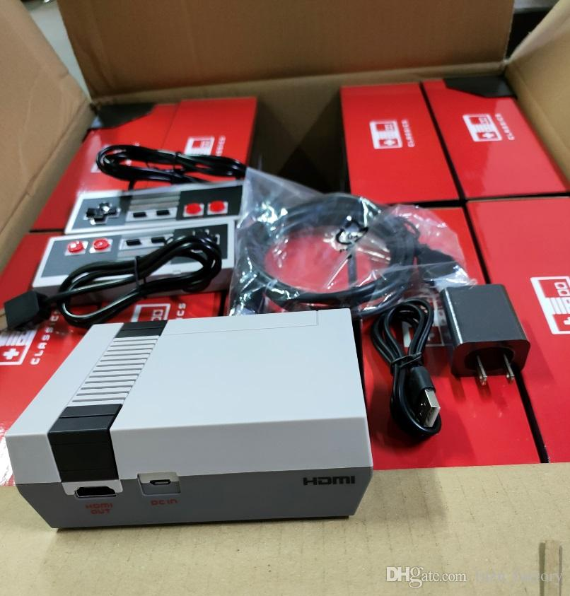 NEW Classic Games TV Video Handheld Console Entertainment System Games For 638 Edition Model NES Two keys Controller game player