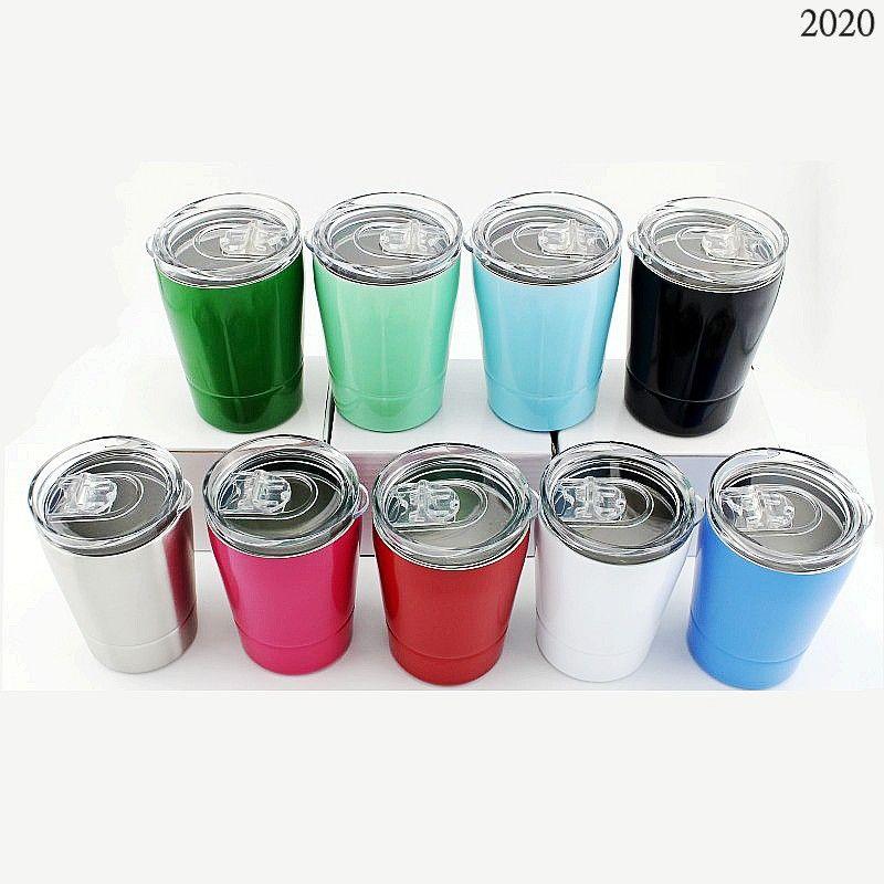 Kindermilch-Becher 12 oz Strohbecher 304 Edelstahl-Tumbler-Vakuum-isolierte Doppelschichtbecher