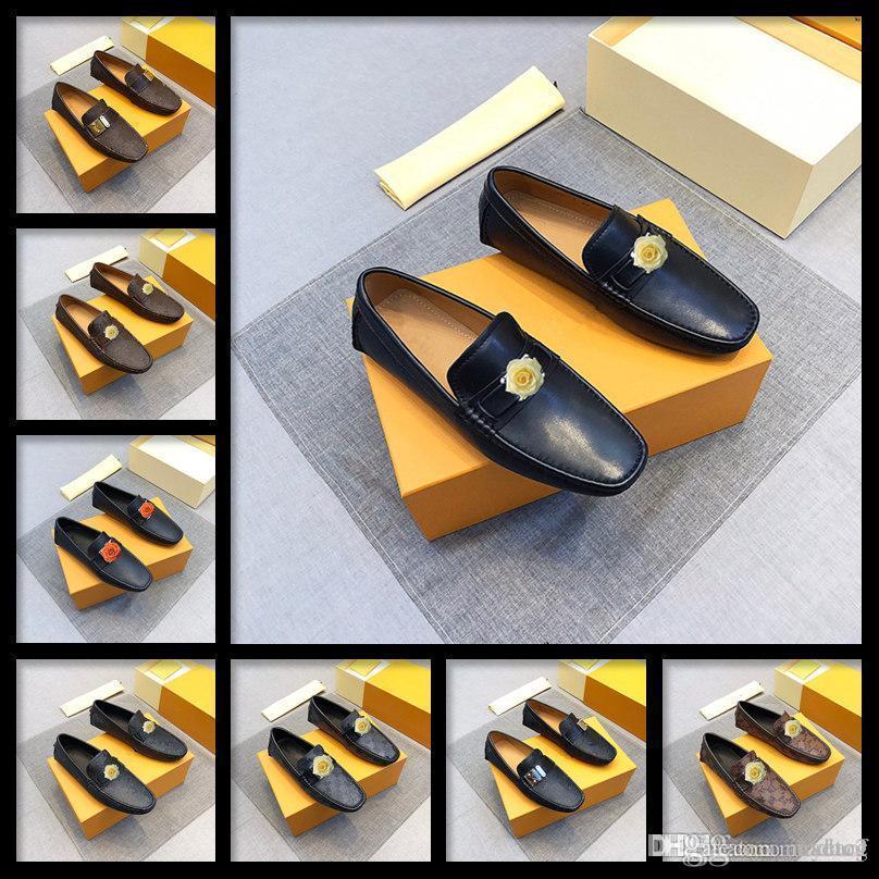 M3 Luxury Mens mocasseurs Casual Chaussures de conduite Slip-On pour hommes des mocassins de designer plats respirants confortables Chaussures en cuir véritable 33