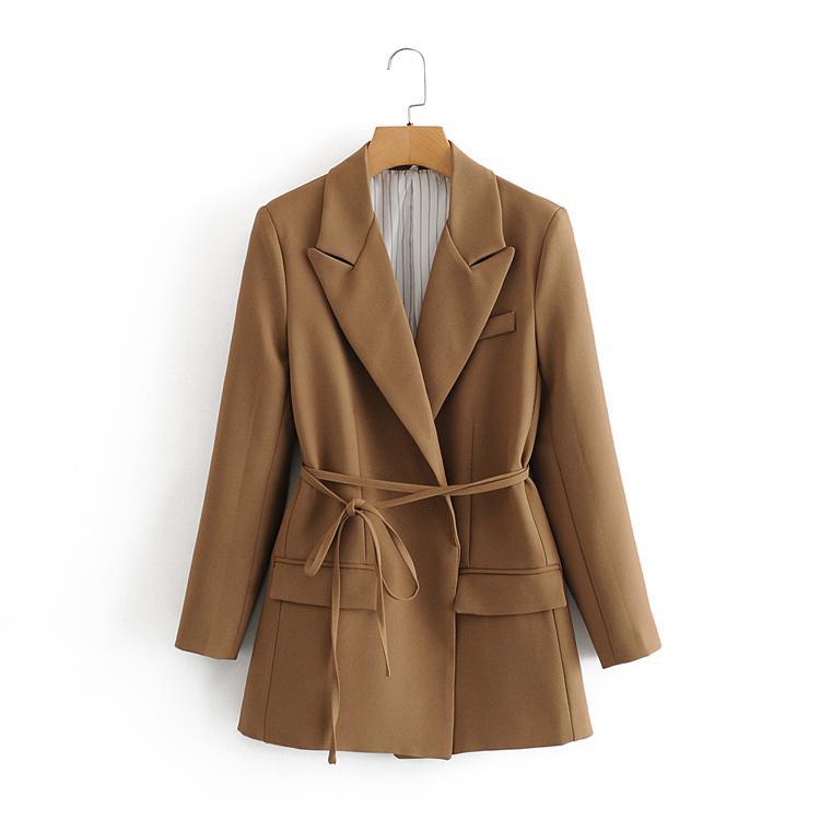 Dış ticaret kadın giyim adına tek mağaza para çekme ihracatı profesyonel takım elbise küçük takım dantel up ceket işletme toptan