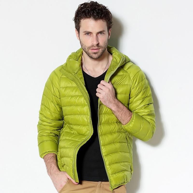 Men White Duck Down Jacket 2020 New Portable Hooded Down Coat Ultralight Men Winter Coat Warm Thermal Parkas 4XL 5XL 6XL