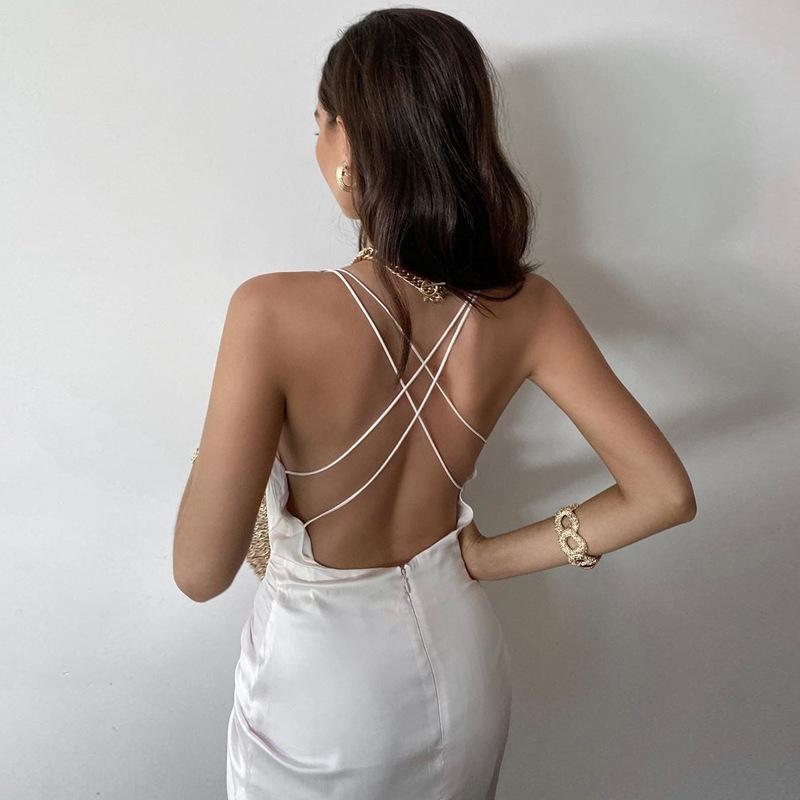 97cd 2021 весна сплошной с длинным рукавом нерегулярное мини-вечеринка платье шеи элегантные v Женщины крутить блесток платье клубные сексуальные дамы тонкий