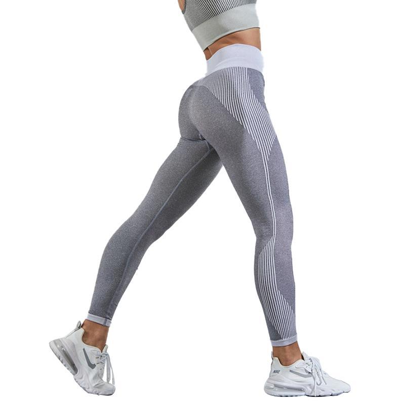 NORMOV Fitness Leggings Women Buddle BuSeamless Leggings Workout Knitted High Waist Pants Moisture Wicking
