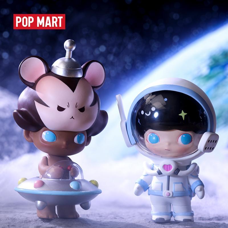 Pop Mart Dimoo Space Travel Blind Box Puppe Binäre Action Figure Geburtstagsgeschenk Kind Spielzeug Tiergeschichte Spielzeug Figuren Freies Verschiffen 201202