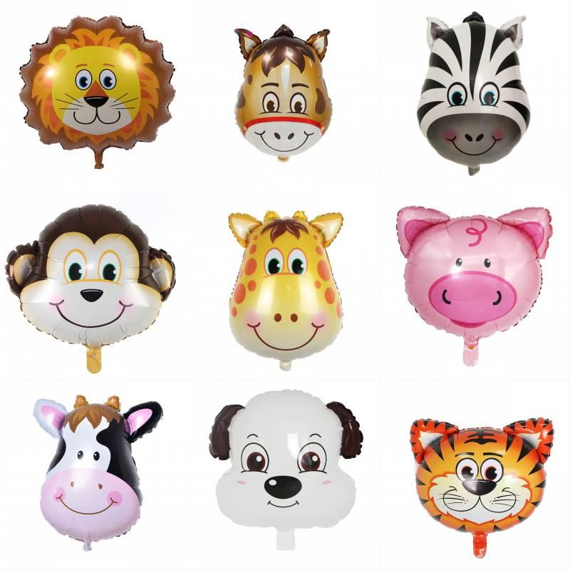 Cartoon Animals Foil Balloon Tiger Lion Cow Monkey Aluminum Film Balloon Kid Toy Birthday Balloons Wedding Party Decoration Kimter-L926FA